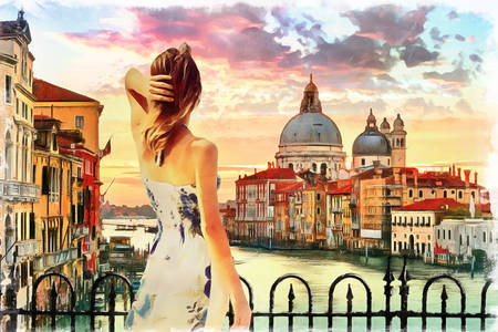 Mädchen in Venedig