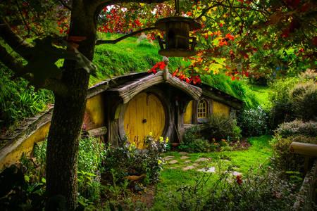 Pueblo de Hobbiton en Nueva Zelanda
