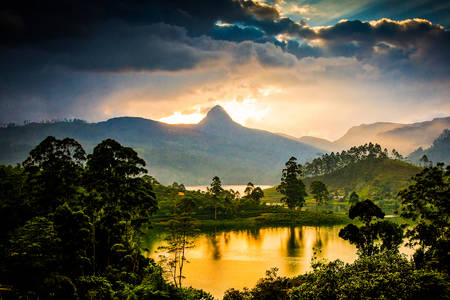 Adam's Peak at Sunset