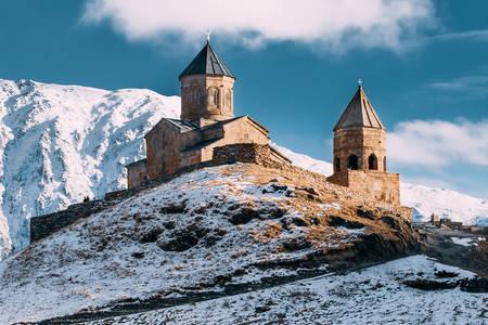 Iglesia de la Santísima Trinidad en Gergeti