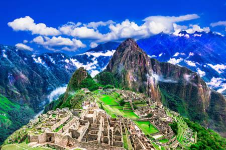 L'ancienne ville de Machu Picchu
