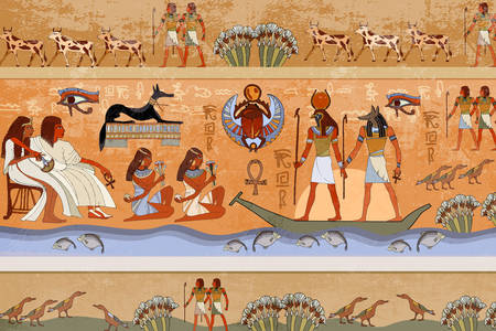 Frescoes of ancient egypt