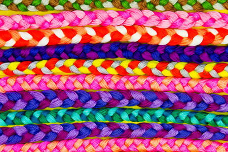 Multi-colored braided bracelets