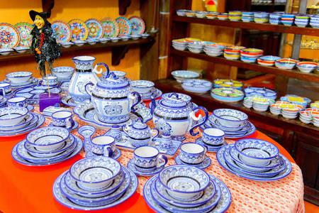 Mexican ceramics store