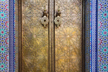 Golden doors of the Royal Palace in Fez