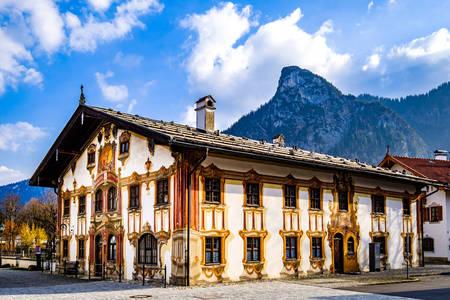 Building architecture in Oberammergau