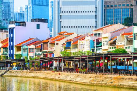 Boat promenade in Singapore