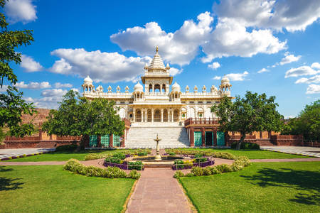 View of the cenotaph Jaswant Thada