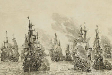 Willem van de Velde Senior: The Battle of Livorno