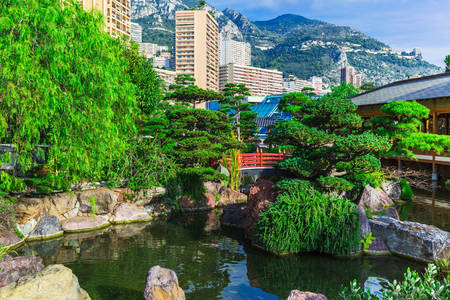 Japanse tuin in Monte Carlo