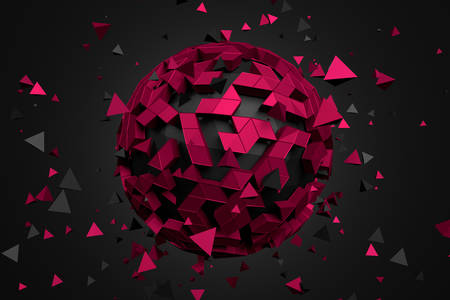 3D abstraction: Ball with shards
