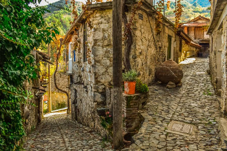 Stone streets of Lofu village