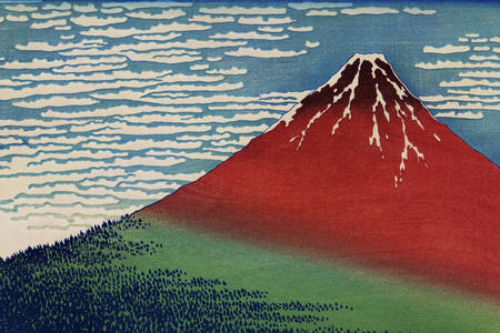 """Katsushika Hokusai: """"Pobednički vetar. Vedro je dan"""""""