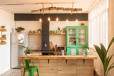 Стильная и светлая кухня