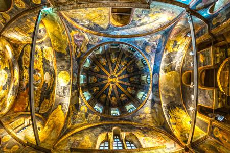 Soffitto nel monastero di Chora