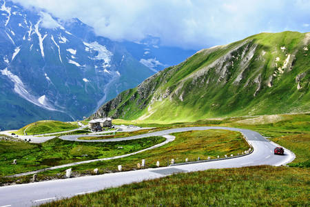 Alpine road in Austria