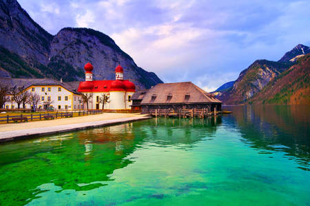 Church of St. Bartholomew on the Königssee lake