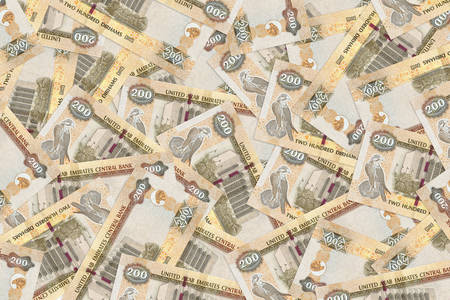 200 dirhams banknotes