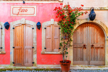 Facade of a house in Alacati