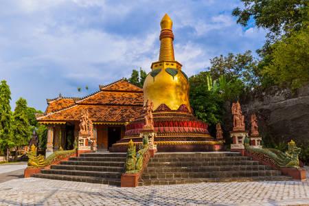Golden stupa in Brahmavihara-Aram