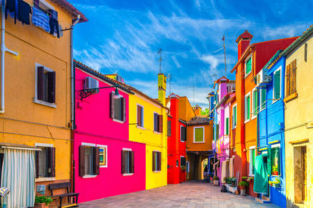 Burano colorful houses