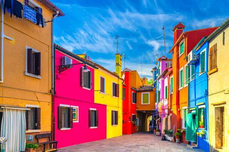 Burano colorful houses