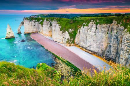 Coastal cliffs of Etretat
