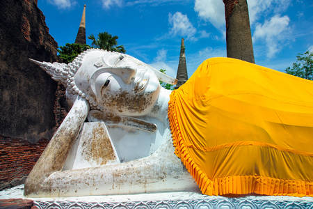 Buddha at Wat Yai Chai Monghon