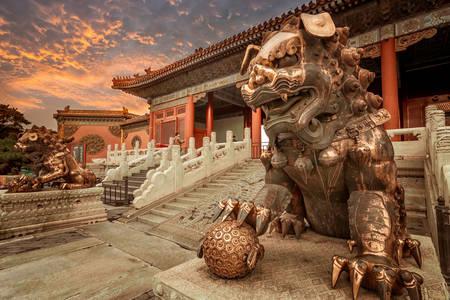 Sculptura leului în Orașul Interzis