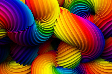 Abstraction from rainbow spirals