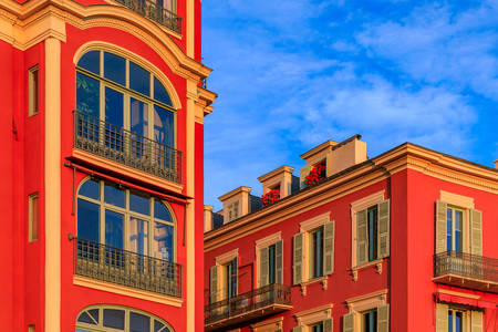 Houses in Place Masséna in Nice