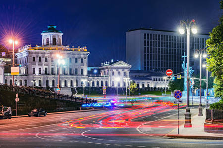 Night streets of Moscow