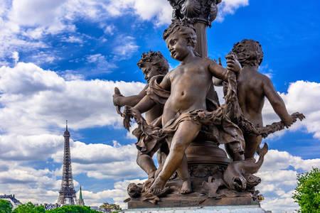 Lantern on the Pont Alexandre III in Paris