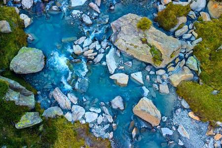 Luchtfoto van de rivier