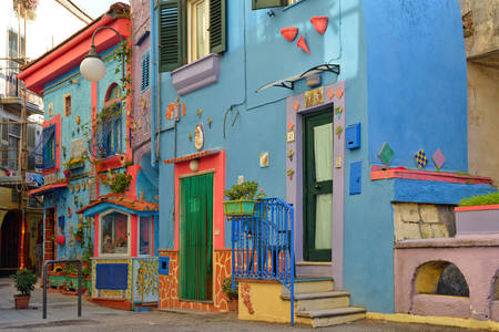 A colorful house in Italy