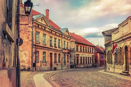 Alte Straßen von Kuldiga