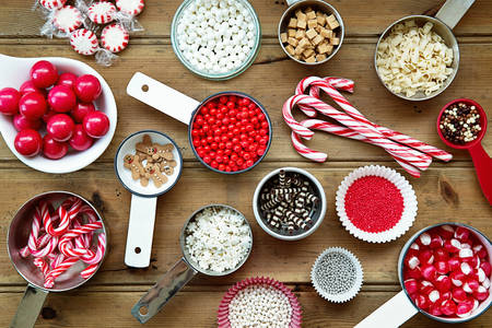 Decorations for Christmas baking