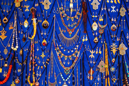 Handmade jewelry in Morocco