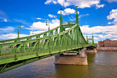 Freedom Bridge over the Danube River