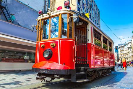 Retro tram in Istanbul