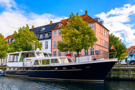 Moored boat in Christianshavn canal