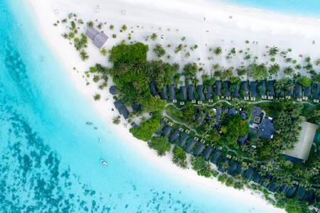 Pogled odozgo na Maldive