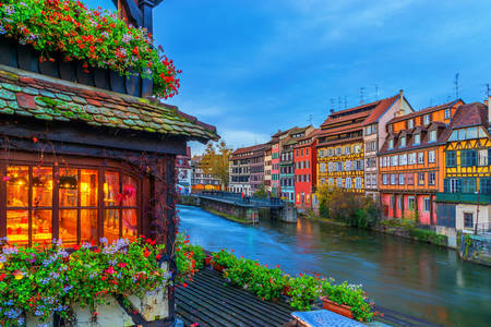 Traditional houses in Alsace