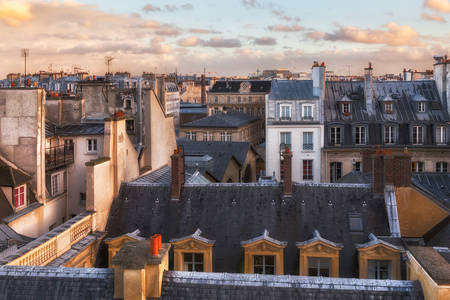 Houses in the historic center of Paris
