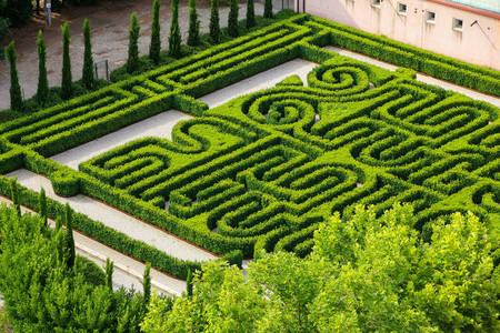 Garden labyrinth in San Giorgio Maggiore