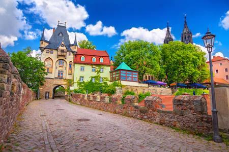 Albrechtsburg kalesine giden yol