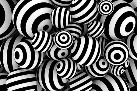 Абстракция с черно -бели топки