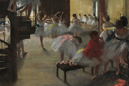 "Edgar Degas: ""Tanečná hodina"""