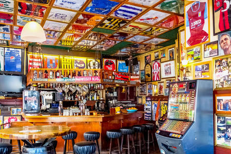 Amsterdam football bar