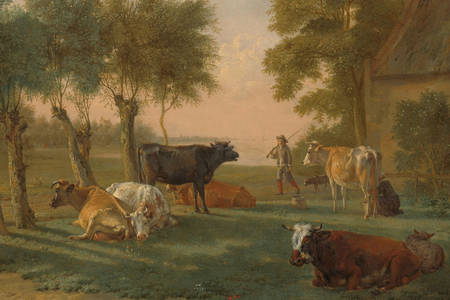 Paulus Potter: Cows in the meadow near the farm